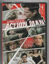 ACTION MAN COLLECTION DVD - 4 MOVIES ON TWO DVD'S - RARE - ROBERT STACK - NEW!!