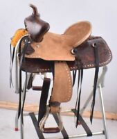 """NEW WESTERN HORSE YOUTH BARREL RACING PLEASURE SADDLE 13/"""" SEAT FQHB 7/"""" GULLET"""