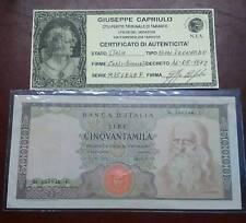 ITALIA LIRE 50.000 LEONARDO DECRETO 16/05/1972