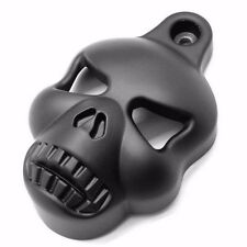 Black Skull Cowbell Horn Cover Motorcycle For Harley Big Twins V-Rods Stock New