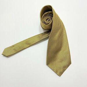 Robert Talbott Grenadine tie Best of Class Luxury Designer Gold Black silk