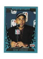 Tony Parker 2001 Topps Rookie's RC'S Basketball Card #247 Spurs