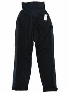 NWT GAP Maternity Best Girlfriend Pants Sz 4 Black Stretch Side Ribbon #179349