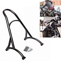 Burly Short Sissy Bar Backrest For Harley Sportster Iron 1200 883 XL 04-16 Black