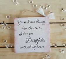 Handmade plaque sign gifts present shabby chic christmas female her daughter mum