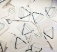 30 x Small Self Adhesive Plate Picture Hanger/Hook/ Sticky Pads : Leeds Display