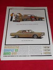 1963 Dodge Dart compact six cylinder 32,000 miles/grease job! 1 pg ad free ship