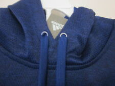 Men's Adidas Climawarm Blue Hoodie Pullover w/ Soft Warm Backing Sz L ~NWTS