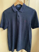 FRED PERRY POLO SHIRT Size Small Slim Fit Rare Polka Dot Mod