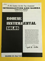 Introduction and Samba, M. C. Whitney, arr. Sigurd Rascher, Alto Sax & Piano