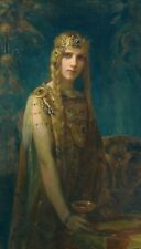 Isolde The Celtic Princess & Cup, Iseult 7x4 Inch Print m