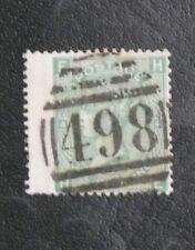 TIMBRES DE GRANDE BRETAGNE : 1867/69 YVERT N° 37 Oblitéré - 1 SHILLING VERT
