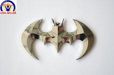 BATMAN 3D DC Universe for Laptop, Car Badge Emblem, etc - Silver Chrome