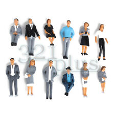 12 pcs Painted Plastic 1:32 Gauge 1 Figures Architecture Model People 1:35 Scale