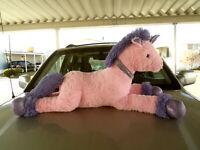 "Giant jumbo plush stuffed Pink & Purple Unicorn Horse 45"""