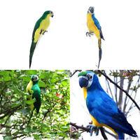 2x Deko Papagei Vogel Figur Vögelchen Künstliche Feder Dekofiguren Dekovogel