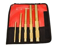 Mayhew 67003 5 Piece Brass Drift Punch Set