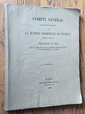 LA JUSTICE CRIMINELLE EN FRANCE PENDANT L'ANNÉE 1831 criminologie