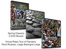 3 x Turbo Training Cycling DVDs Spring Classics, Flanders, Roubaix & Liege