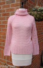 Lace Knit Pretty Pink Boho Jumper SIZE M