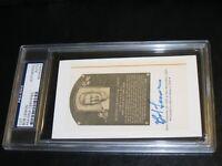 Bob Lemon Autographed HOF Cut PSA Certified Encapsulated