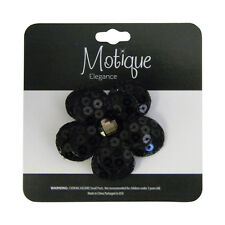 Black Hair Clip Sequin Flower Girls Accessory Stylish Girls Hair Accessory