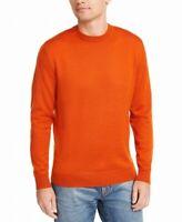 Club Room Mens Sweater Orange Size Large L Crewneck Wool Pullover $55 #027