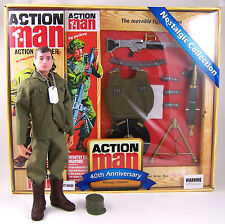 Action Man 40th Ann Heavy Weapons set w/Figure