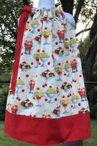 Ice Cream Sundae Sundress Banana Split Pillowcase Dress Size 6 Ready to Ship