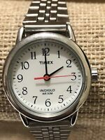 Timex Womens Analog Indiglo Ladies Watch 100% Stainless Steel Strap, New Battery