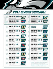 NFL Football  Wentz Philadelphia Eagles 2017 Schedule Fridge Magnet #1