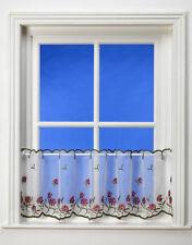 "Amor Rose Design Voile / Net Cafe Curtain 150cm x 45cm (60"" x 18"")"
