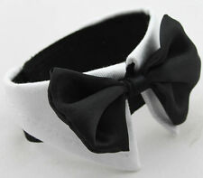 Large Breed Dog Black Bow Tie Collar - Size L-XS, L-S, L-M, L-L, L-XL or XL-5XL