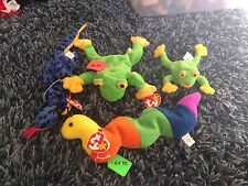 Inch, Lizzy, Smochy And Small Smoochy Beanie Babys Lot Of 4