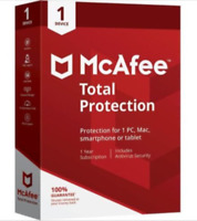 McAfee Total Protection 2019 1PC Windows / 1Year Antivirus ONLY PC Windows New