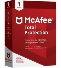 McAfee Total Protection 2019 1PC Windows Antivirus PC Windows year of 2019