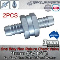 "8MM 5/16"" Aluminium One Way Non Return Fuel Line Check Valve Petrol Diesel Water"