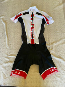 CASTELLI Cycling Short Sleeves Skinsuit BRAND NEW ORIGINAL SIZE 2XL Unisex