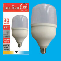 1x 30W T100 LED Light Bulb 4000K Cool White Edison Screw ES E27