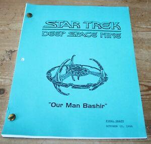 Star Trek DEEP SPACE NINE TV SERIES SHOW SCRIPT OUR MAMN BASHIR