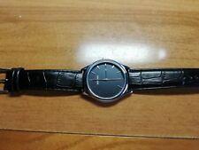 Sekonda Men's Quartz Watch black dial chromed case Gents wristwatch Like NEW