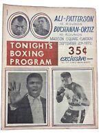 Muhammad Ali vs Floyd Patterson 9-20-1972 MSG On-Site fight program RARE!!!