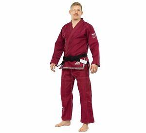 Fuji Suparaito Super Lightweight Mens Brazilian Jiu-Jitsu BJJ Gi - Burgundy Red