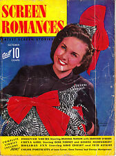 SCREEN ROMANCES 10/1942 DEANNA DURBIN Lana Turner CLAUDETTE COLBERT Greer Garson