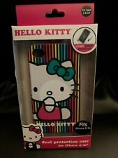 New Hello Kitty Dual Protection Rainbow Phone Case for Iphone 4 / 4s