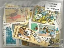 "Lot timbres thematique "" Chevaux """