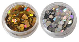 CA Pailletten, Hologramm ,maxi, Glitter, Nail Art,Hexagon,Glitzer 2,50mm DOSE