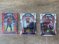 Red Cracked Ice Aaron Wan Bissaka Prizm Lot (3) MANCHESTER UNITED COLOR MATCH🔴