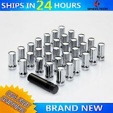 "32 pcs 9/16"" Closed Bulge Acorn Chevy Ford Dodge Steel Wheel Lug Nuts"