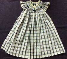 3a044c10ec81e Petit Ami Girls Smocked Bishop Dress Sailboat Plaid Green & Blue Size 3 T  /Years